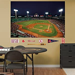 MLB Boston Red Sox Inside Fenway Park at Night Mural Wall Graphics by Fathead