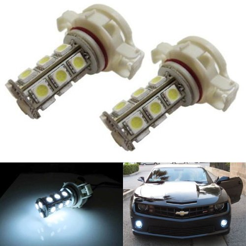 Ijdmtoy 18-Smd-5050 5202 H16 Led Replacement Bulbs For Fog Lights Or Daytime Running Lamps, Xenon White