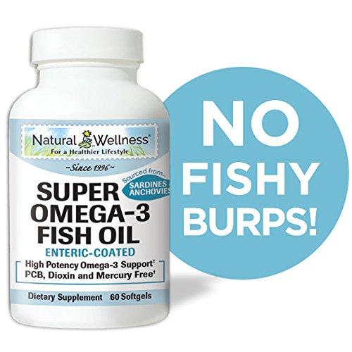 Natural Wellness - Super Omega 3 Fish Oil - 60 Enteric Coated Softgels