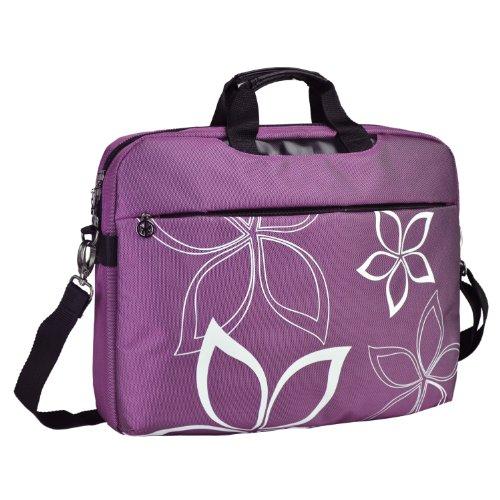 17 Inch Purple Contour Flowers Floral Print Laptop