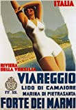TV52 Vintage 1934 Viareggio Riviera Versilia Italy Italian Travel Poster Re-Print Reproduction Print Card - A5 (148mm x 210mm)