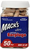 Macks Ear Care Ultra Soft Foam Earplugs, 50 Count