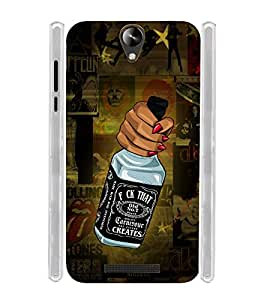 Wine Wiskey Soft Silicon Rubberized Back Case Cover for Micromax Canvas 6 Pro
