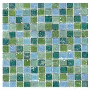 Elida Glass Mosaic in Mint Oil