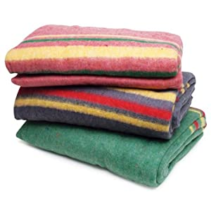 """Roadpro RPAPB1 85"""" x 62"""" Assorted Colors Travel Blanket"""