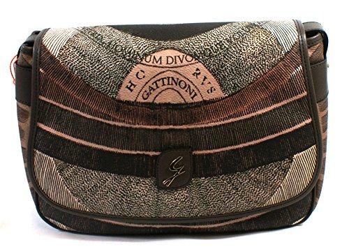 Gattinoni Donna Borsa Diana Tracolla Messenger Bag 11Cm 30X20X10 Fango