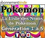 La Liste des Noms de Pokemon - G�n�ra...