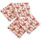 Flamingo Coasters 4 Pack Set