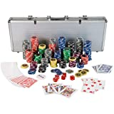 "Ultimate Pokerset mit 500 hochwertigen 12 Gramm METALLKERN Laserchips, inkl. 2x Pokerdecks, Alu Pokerkoffer, 5x Wrfel, 1x Dealer Button, Poker, Set, Pokerchips, Koffer, Jetonsvon ""Maxstore"""