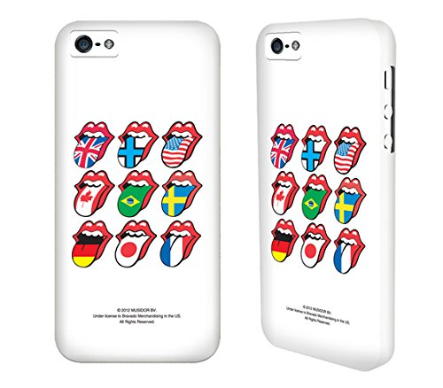 Rolling Stones Case, Iphone 5S Clip Case, Apple Iphone5 Case, Matt Aqua, 89 Steel Wheels, Classic Plastered Tongue, Mobile Hard Case, Ultra Slim, Offical Licensed Artist Artwork, Superior Protection Pc/Abs Thin (At&T, Verizon, Sprint, T-Mobile) - Retail P
