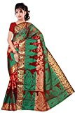 Makeway Women's Banarasi Silk Saree (279_Red)