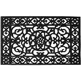 """Home & More 900042234 Utopia Rubber Doormat, 1'10"""" x 2'10"""", Black"""