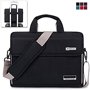 BRINCH Oxford Fabric Unisex Universal Luxury Portable Laptop Sleeve Case Carrying Messenger Bag Shoulder Briefcase Handbag For 15 - 15.6 Inch Laptop / Notebook / MacBook / Ultrabook / Chromebook Computers (Apple / Acer / Asus / Dell / Fujitsu / Lenovo / H