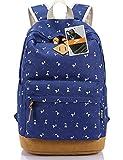 Leaper Lightweight Canvas Laptop Backpack Cute School Bags (Large, Deer...