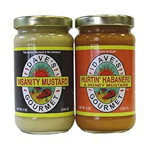 Dave's Mustard Set of Award Winning Gourmet Spicy Mustards Brought to You by the Creator of Insanity Sauce. from Dave's Gourmet
