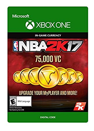 NBA 2K17: 75,000 VC - Xbox One Digital Code