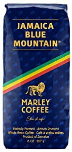 Marley Coffee Talkin' Blues, Jamaica Blue Mountain Naturally Grown Whole Bean Coffee, 8oz.