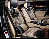 Sunluway® 2015 Universal 10PCS Full Set Needlework PU leather Front Rear Car Seat Cushion Cover For BMW 1 3 5 7 Series x1/x3/x5/x6 Audi A3/a4/a5/a6/A8/q3/q5/RS4 from Bigfish1988