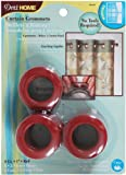 Dritz 44443 Curtain Grommets, Red, 1-Inch, 8-Pack
