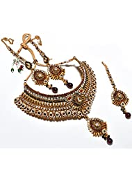 Kundan Necklace Set Original Ad One Gram Gold Plated Puwai Handmade Branded New Design Fashion Real Look Diamond...