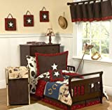 Wild West Cowboy Western Toddler Bedding 5 pc set