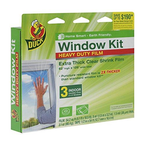 Duck Brand 284351 Heavy-Duty Shrink Film Indoor Window Insulation Kit, 62-Inch x 126-Inch (Window Insulation Kit Outdoor compare prices)