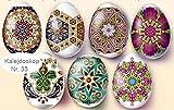 Ostereier Schrumpffolie. Eier Farbe. Kaleidoskop. Nr. 35 reicht für 7