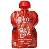 Ella's Kitchen Organic Smoothie Fruits, The Red One, 3 Ounce Pouches (Pack of  7) ~ Ella's Kitchen