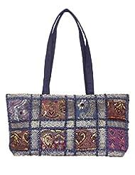 Rajrang Elegant Cotton Patch Work Patch Work Blue Shoulder Bag