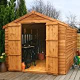 Overlap Apex Shed with Windowless and Double Door Size: 211 cm H x 253 cm W x 353 cm D