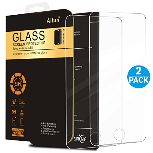 iPhone 5S Screen Protector,iPhone SE Screen Protector,[2 Packs]by Ailun,2.5D Edge Tempered Glass for iPhone 5/5S/5C/SE,Anti-Fingerprint,Oil Stain&Scratch Coating,Case Friendly-Siania Retail Package (Packages Of Iphone 5s Cases compare prices)