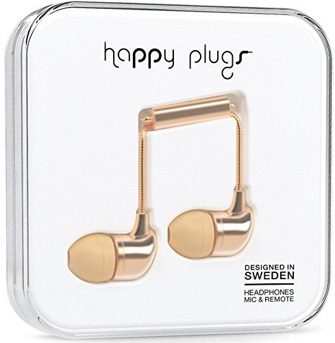 Happy Plugs 7832 In-Ear Headphones, Champagne (Happy Plugs Deluxe compare prices)