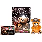 Birthday Gifts For Wife - Birthday Greetings Card, Birthday Quotation And Cute Soft Teddy