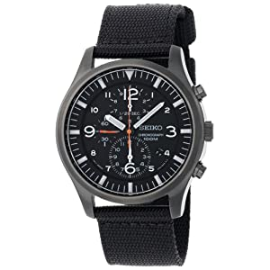 Seiko Men's SNDA65 Chronograph Strap Watch