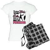 CafePress Real Girls Go Fishing Women's Light Pajamas Women's Light Pajamas - S