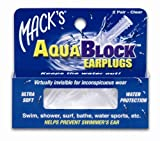 Macks AquaBlock Earplugs 2 pair,Pack of 3