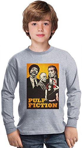 pulp-fiction-poster-amazing-kids-long-sleeved-shirt-by-true-fans-apparel-100-cotton-ideal-for-active