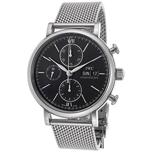 iwc-homme-42mm-bracelet-maille-argent-boitier-acier-inoxydable-saphire-quartz-cadran-noir-montre-iw3
