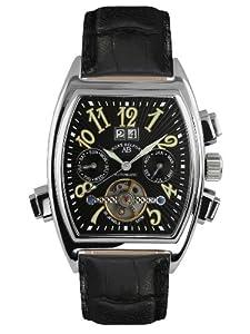 André Belfort 410003 - Reloj analógico de caballero automático con correa de piel negra - sumergible a 50 metros