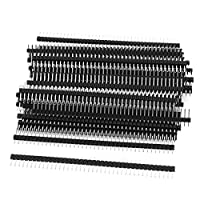 50 Pcs Single Row 40Pin 2.54mm Male Pin Header Connector by uxcell