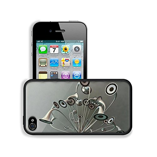 Variety Silver Metallic Speaker Design Apple Iphone 4 / 4S Snap Cover Premium Leather Design Back Plate Case Customized Made To Order Support Ready 4 7/16 Inch (112Mm) X 2 3/8 Inch (60Mm) X 7/16 Inch (11Mm) Luxlady Iphone_4 4S Professional Cases Touch Acc
