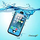 iPhone 5S Waterproof Case, iThrough Waterproof, Dust Proof, Snow Proof, Shock Proof Case with Touched Transparent Screen Protector, Heavy Duty Protective Carrying Cover Case includes a 3.5mm AUX Cable for iPhone 5/5s (Blue)