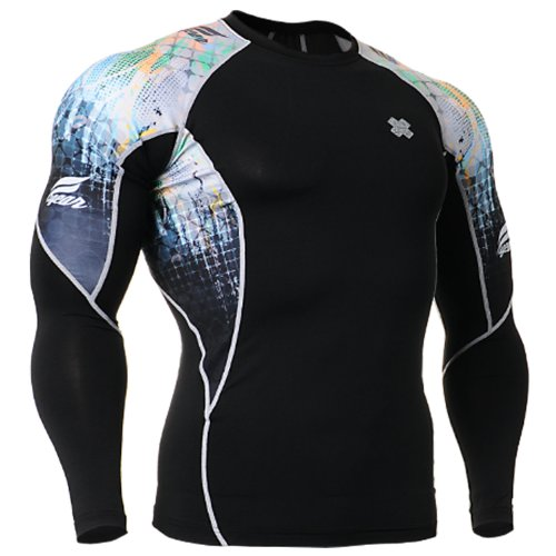 Fixgear Mens Womens Skin Cycling Base Layer Tight Compression T Shirt S~XXL