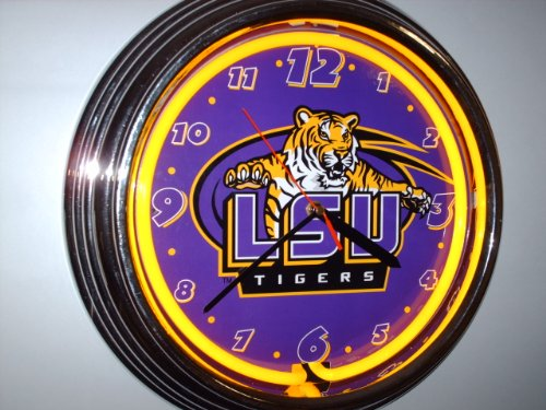 LSU TIGERS Neon Clock