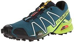 Salomon Men\'s Speedcross 3 Mountain Trail, Cobalt Blue/Granny Green/Black, 8 M US