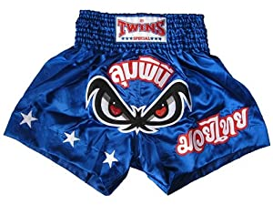 Buy Twins Special No Fear Muay Thai Shorts - Blue by Twins Special