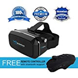 VisionCast VR Virtual Reality Headset - 360° VR Goggles For IPhone 6 6 Plus 7 7 Plus Android & Smartphones 4...