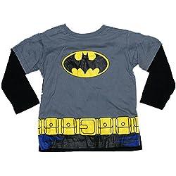Batman Batsuit Toddler Costume Longsleeve Cape T-Shirt