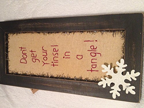Primitives by Kathy Tinsel in a Tangle Stitchery Sign
