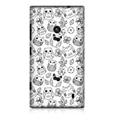 Head Case Designs Flowers and Leaves Doodle Owl Hard Back Case Cover for Nokia Lumia 520